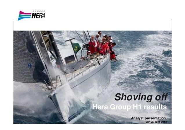 Hera Group Analyst presentation 1H 2013 Results