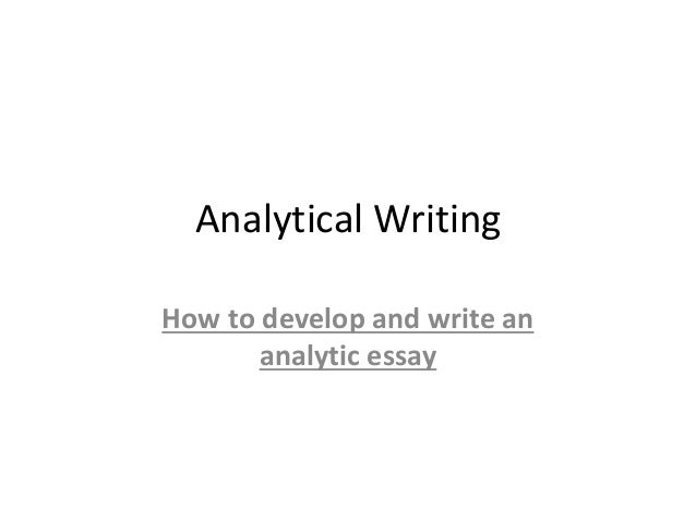 Write Analytical Thesis Statement