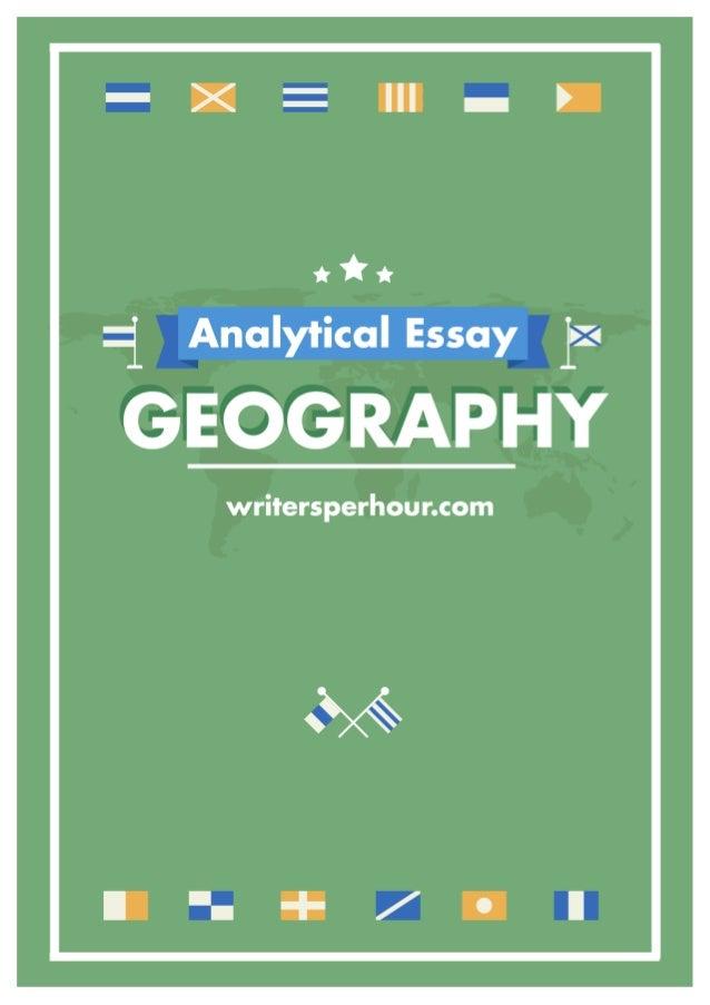 Geography essay topics