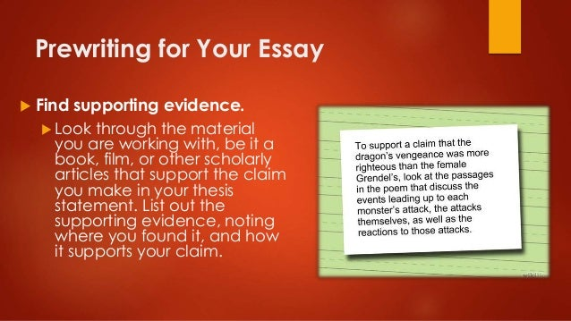 find your essay
