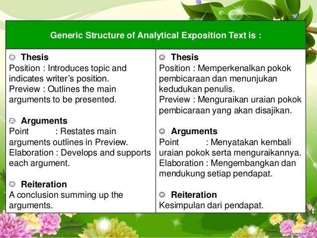 example thesis analytical paper