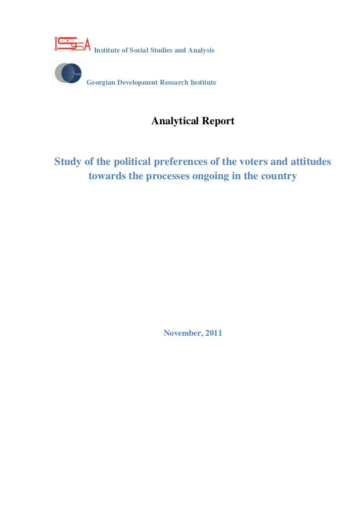 Analytical Report: Study of the political preferences of the voters and attitudes towards the processes ongoing in the country-ENG