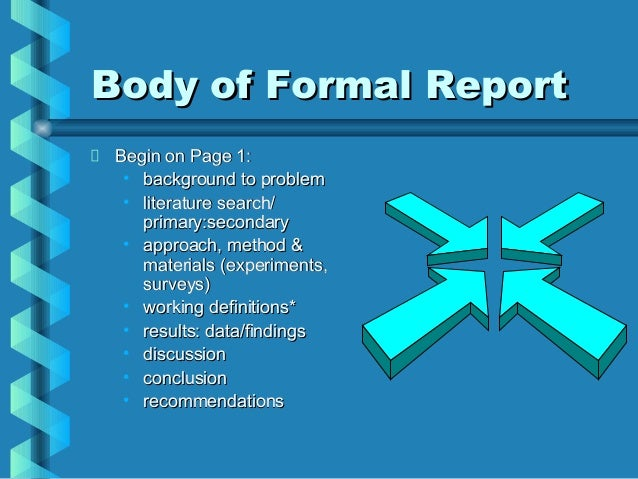 Features of good reports - University of Reading