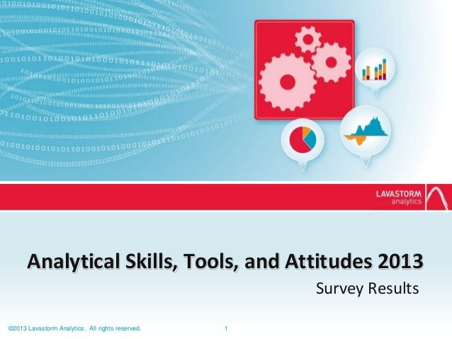 Analytical Skills Tools and Attitudes 2013 Survey   lavastorm analytics