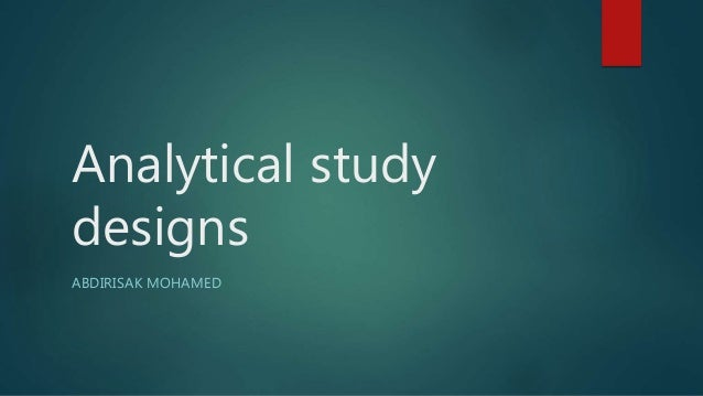 analytical epidemiology case control study A case-control study is a type of porta's dictionary of epidemiology defines the case-control study analysis case-control studies were initially.
