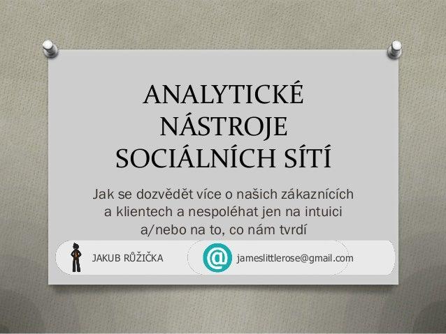 Analytické nástroje sociálních médií (Marketing)