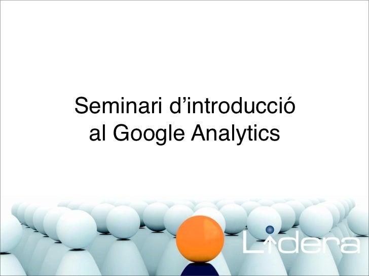 Seminari d'introducció al Google Analytics