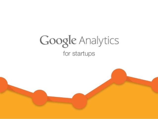 Google Analytics for Startups