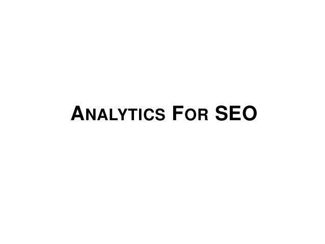 Analytics For SEOs - Mozcation Portsmouth 11/7/12