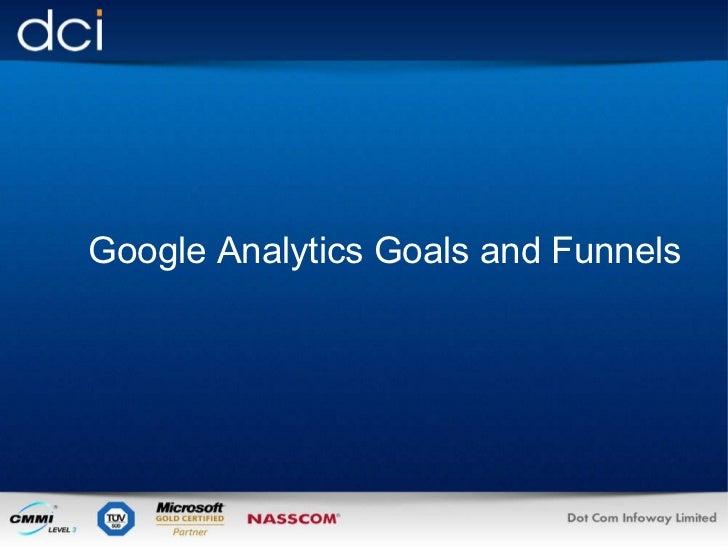 <ul><li>  Google Analytics Goals and Funnels </li></ul>