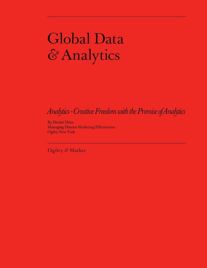 Analytics and Creativity