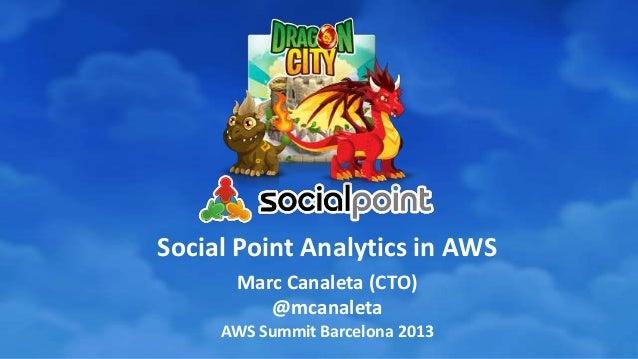Social Point Analytics in AWS Marc Canaleta (CTO) @mcanaleta AWS Summit Barcelona 2013