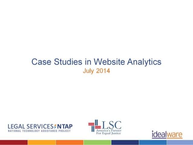 Analytics Case Studies LSNTAP and Idealware