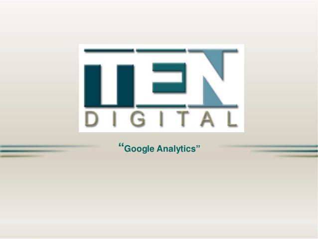TEN Digital - Google Analytics - EN