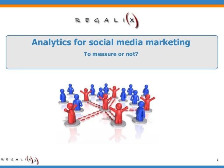 Analytics For Social Media Marketing