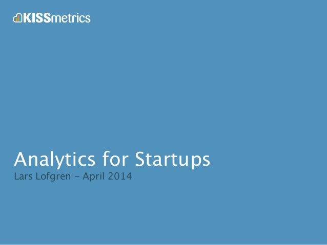 Analytics for startups