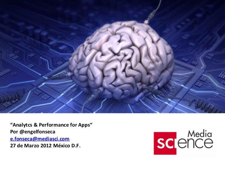 Analytics & Performance MKT  for Apps