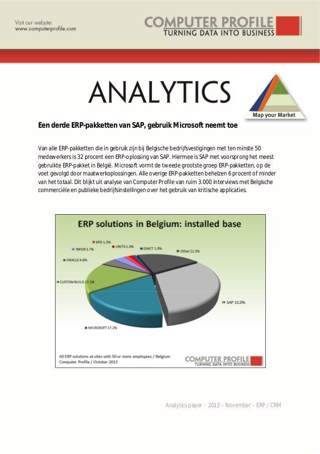 32% van ERP oplossingen in gebruik van SAP