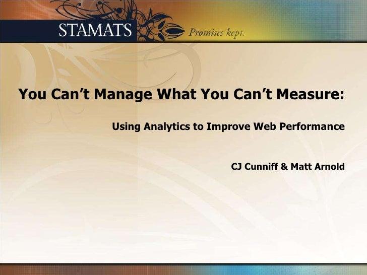 Stamats: Analytics Webinar