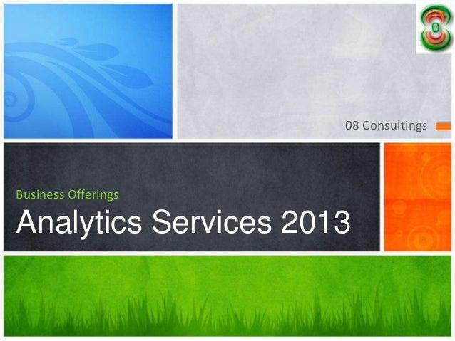 Analytics services 2013