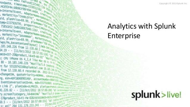 Analytics with splunk - Advanced