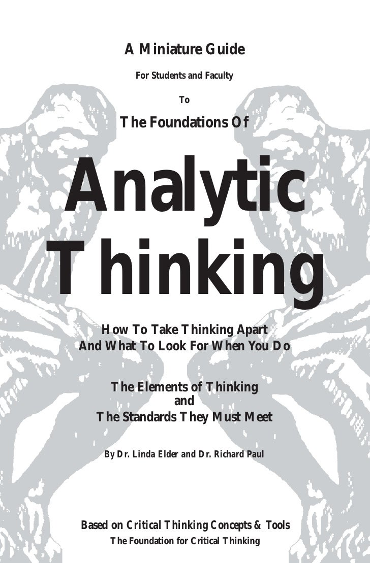A Miniature Guide             For Students and Faculty                        To          The Foundations Of     Analytic ...