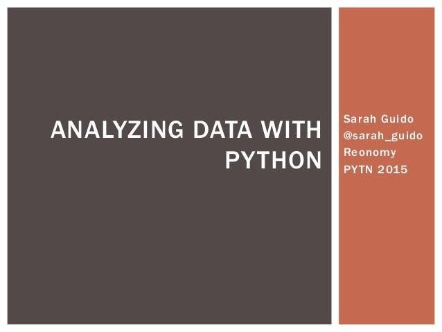 Analyzing Data With Python