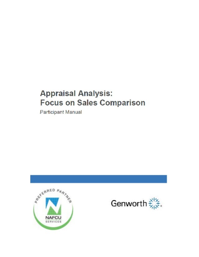 Analyzing Appraisals: Focus on Sales Comparison (Take Away Manual)
