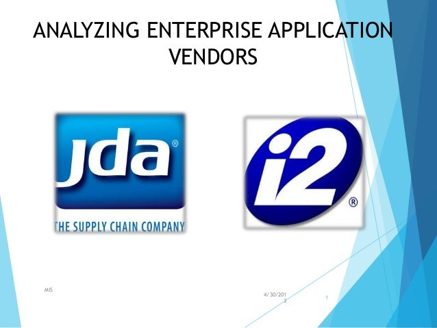 Analyzing enterprise application vendors