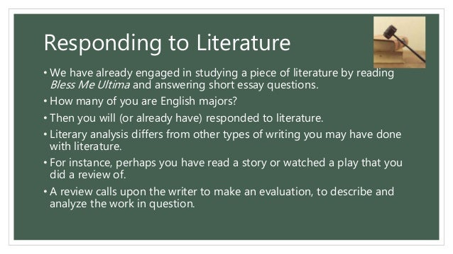 analyzing the focus of gothic literature english literature essay I'm here to explain how to write a literary analysis that is quite simply an analysis of a piece of literature be the focus of your essay.
