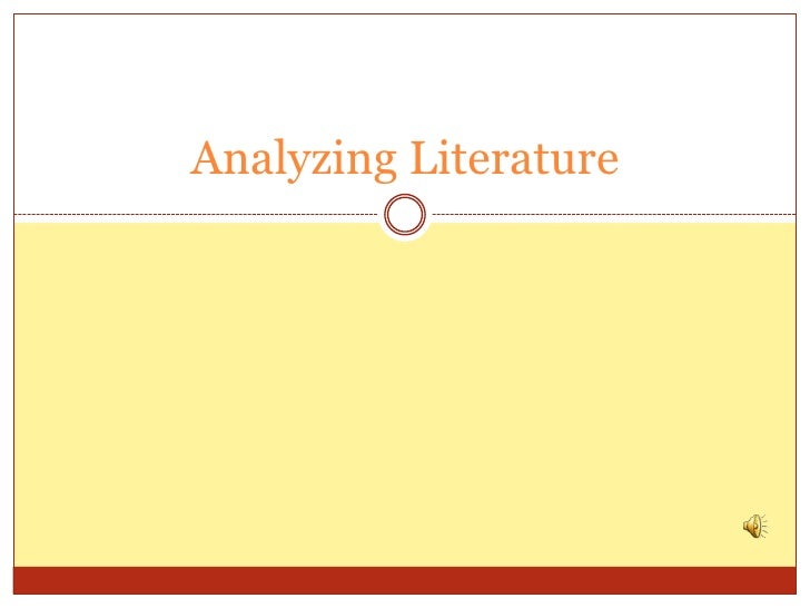 Analyzing literature 2012 with audio