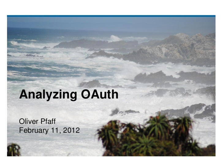 Analyzing OAuth