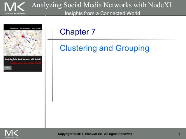 1Copyright © 2011, Elsevier Inc. All rights Reserved Chapter 7 Clustering and Grouping Analyzing Social Media Networks wit...