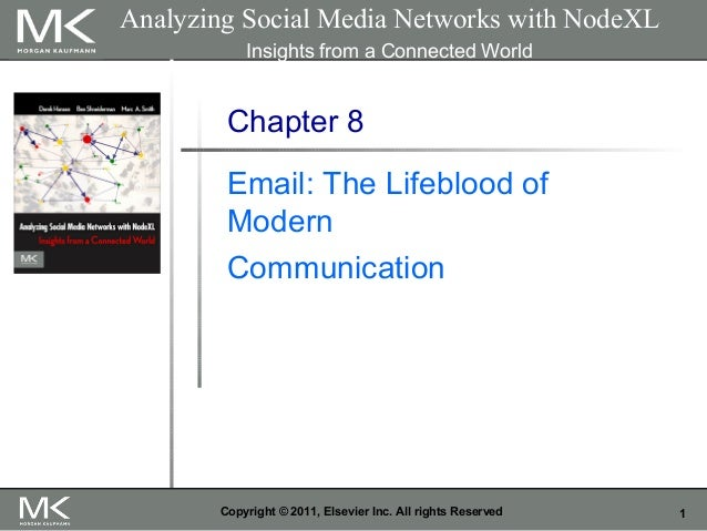 1Copyright © 2011, Elsevier Inc. All rights Reserved Chapter 8 Email: The Lifeblood of Modern Communication Analyzing Soci...