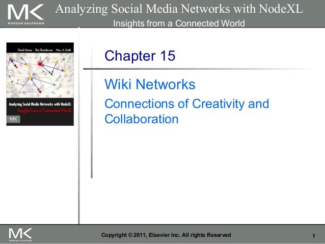 1Copyright © 2011, Elsevier Inc. All rights Reserved Chapter 15 Wiki Networks Connections of Creativity and Collaboration ...