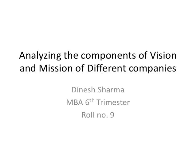 analyzing the vision statement of cookie Toyota motor corporation's mission statement and vision statement are discussed in this case study and analysis to determine their influence on the company.