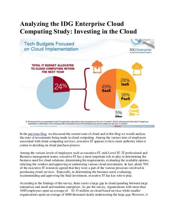 Analyzing The Idg Enterprise Cloud Computing Study Part 2