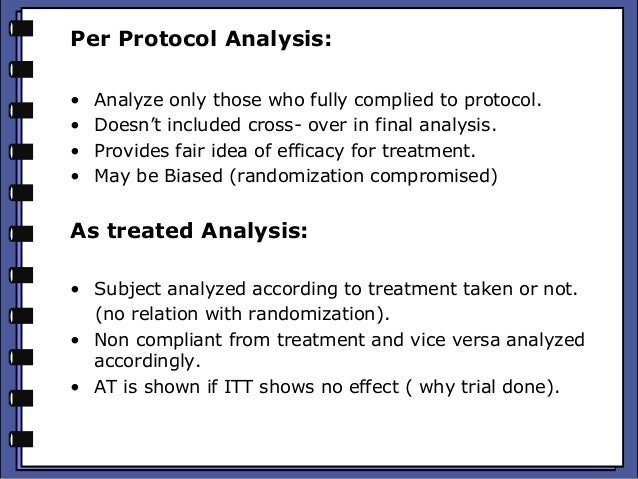 per protocol vs itt analysis essay