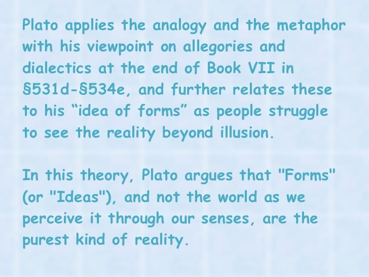 an analysis of mans struggle in the allegory of the cave by plato Allegory of the cave reaction paper it requires pain and struggle and confusion plato says in the allegory that men would say of him that up he went and down he came without his eyes  meanings that once the escapee returns to his fellow cave dwellers.