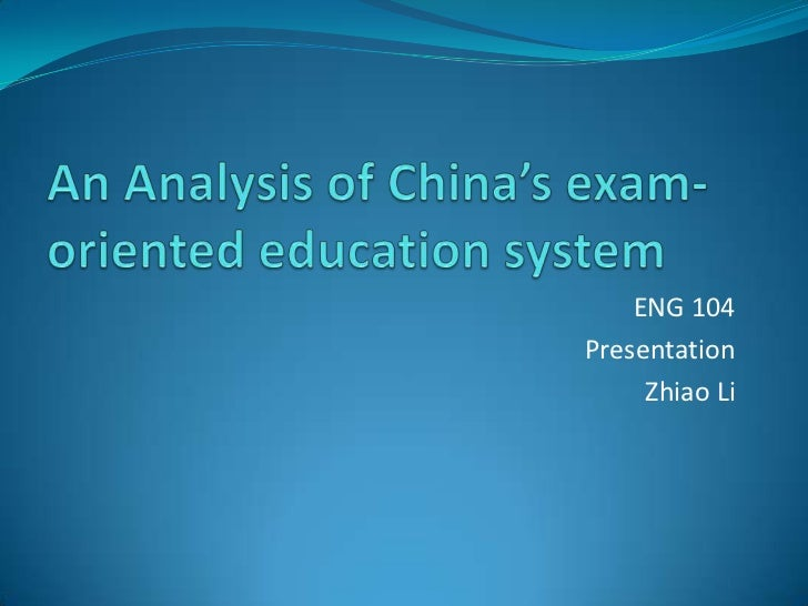 An analysis of exam oriented education system (1)