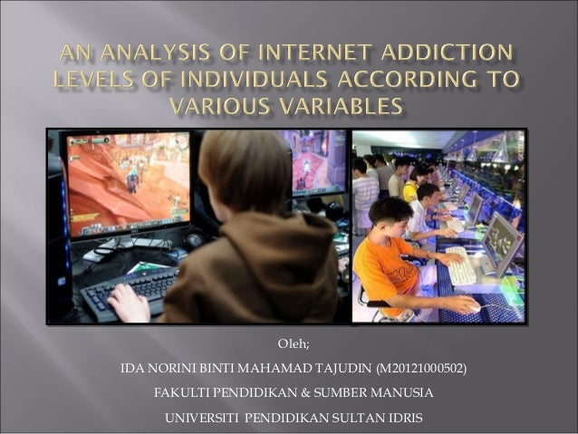 An analysis of internet addiction levels of individuals according to various variables