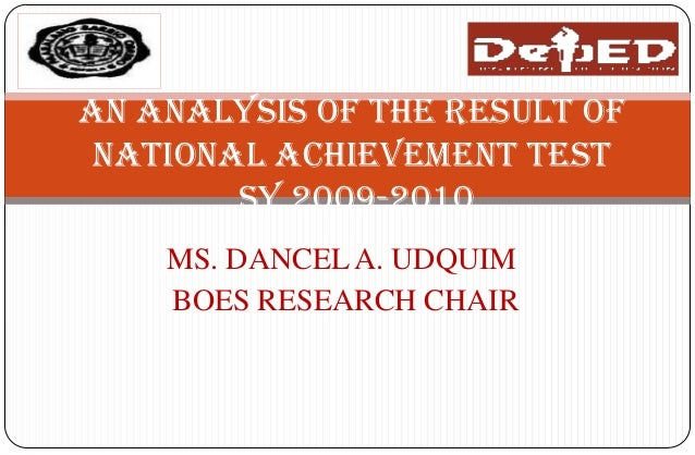 related literature on national achievement test Factors affecting performance in science of fourth year students in the national achievement test factors affecting performance in science of fourth year students in the national 10 chapter ii review of related literature this chapter presents the reviews which are related to the.