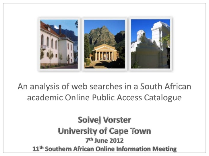 An analysis of web searches in a south african(final)