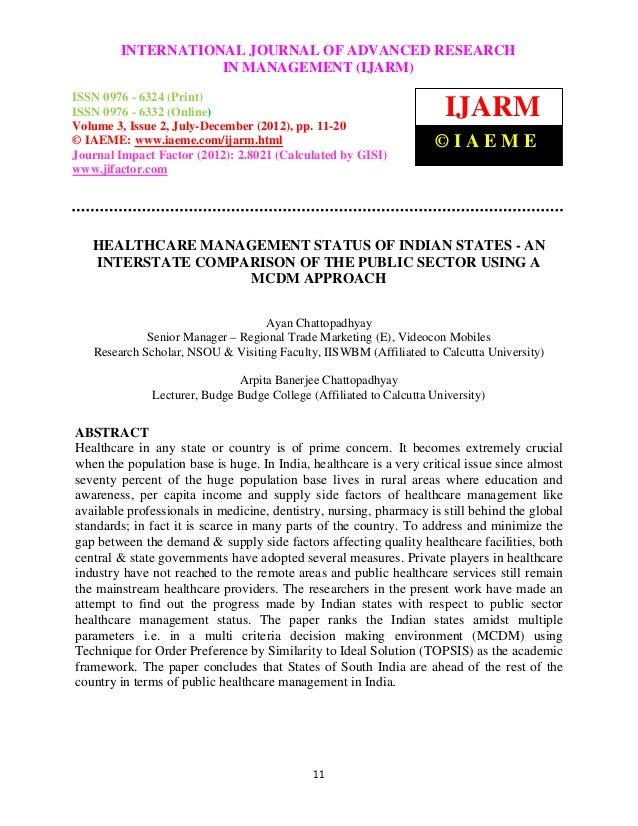 International Journal of Advanced JOURNAL OF ADVANCED RESEARCH (Print),         INTERNATIONAL Research in Management (IJAR...