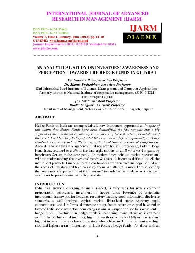 International Journal of Advanced Research in Management (IJARM), ISSN 0976 –         INTERNATIONAL JOURNAL OF ADVANCED 63...