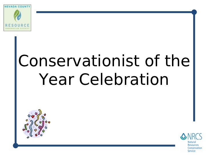 Conservationist of the   Year Celebration