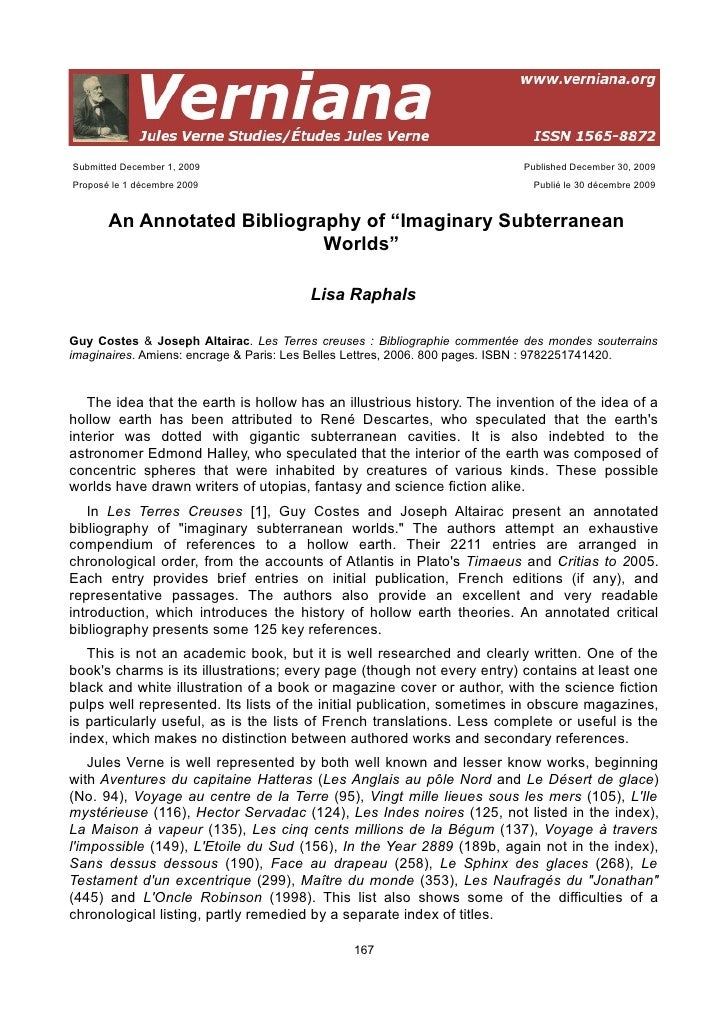 An annotated bibliography of imaginary subterranean
