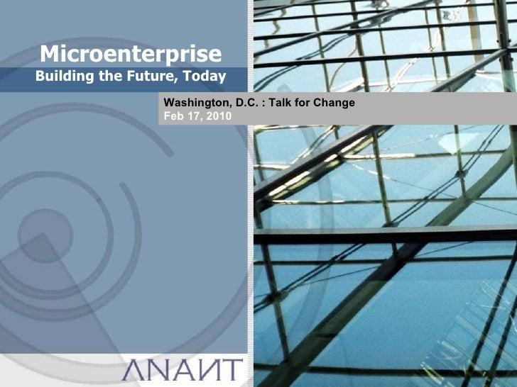 Anant - Micro Enterprise - The Future, Today