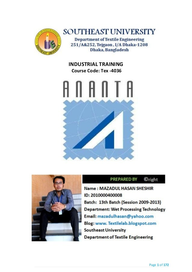 Industrial Attachment of  Ananta group