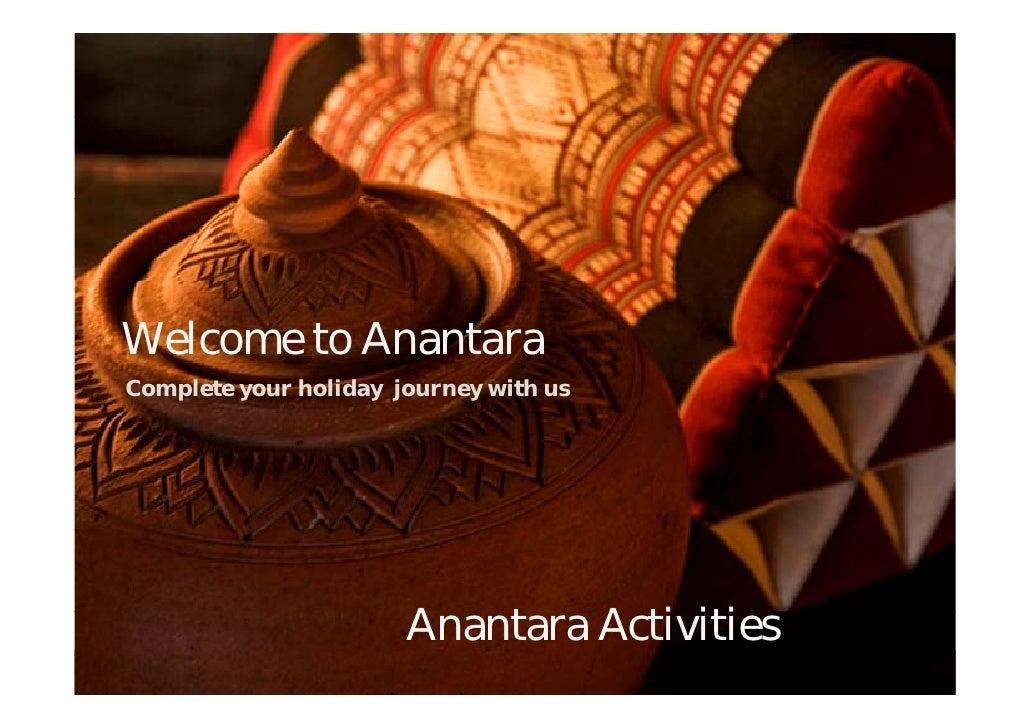 Anantara Bophut Samui Thailand Holiday Activities
